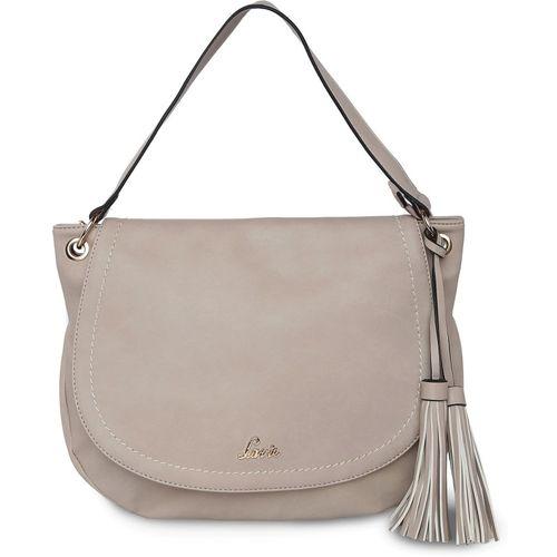Lavie Beige Solid Hobo Bag
