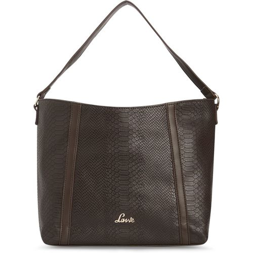 Lavie  Brown Polyurethane Hobo Bag