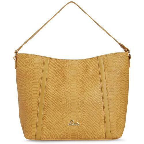 Lavie Yellow Polyurethane Hobo Bag