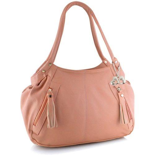 Anglopanglo Orange Leather Hobo Bag