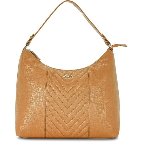 Lavie Tan Artificial Leather Hobo Bag