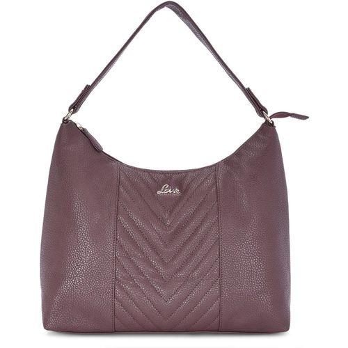 Lavie Purple Solid Hobo Bag