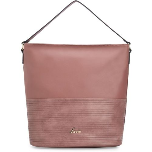 Lavie Pink Artificial Leather Hobo Bag