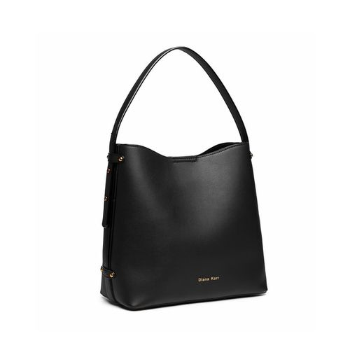 Diana Korr Black Embellished Hobo Bag