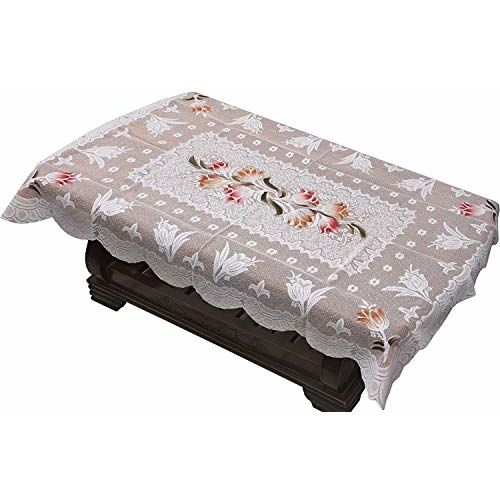 Yellow Weaves Floral 5 Seater Sofa Cover Set with 1 Center Table Cover