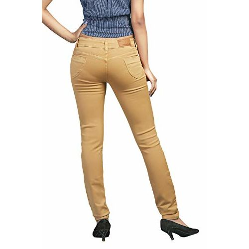 ADBUCKS Silky Cotton Denim Jeans for Women's Stretchable (Plus Size Also Available) (Rust, 38)
