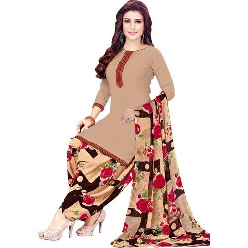 Saara Being Crepe Checkered Salwar Suit Material