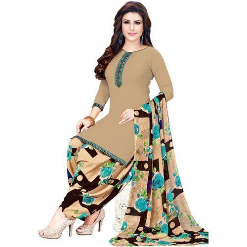 Saara Multi Color Crepe Checkered Salwar Suit Material