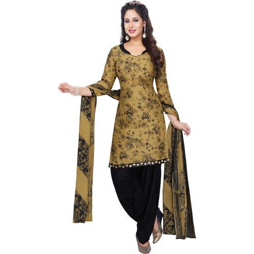 Reya Poly Crepe Floral Print Salwar Suit Material