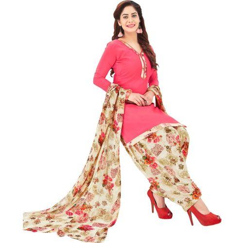 Saara Crepe Floral Printed Salwar Suit Material