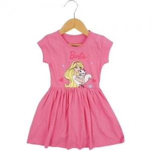Icable Girls Midi/Knee Length Casual Dress(Pink, Half Sleeve)
