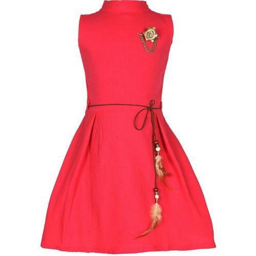 Tiny Toon Girls Midi/Knee Length Party Dress(Pink, Sleeveless)