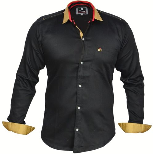 Zolario Boys Solid Casual Black Shirt