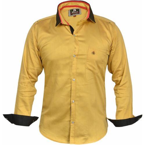Zolario Boys Solid Casual Yellow Shirt