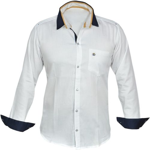 Zolario Boys Solid Casual White Shirt