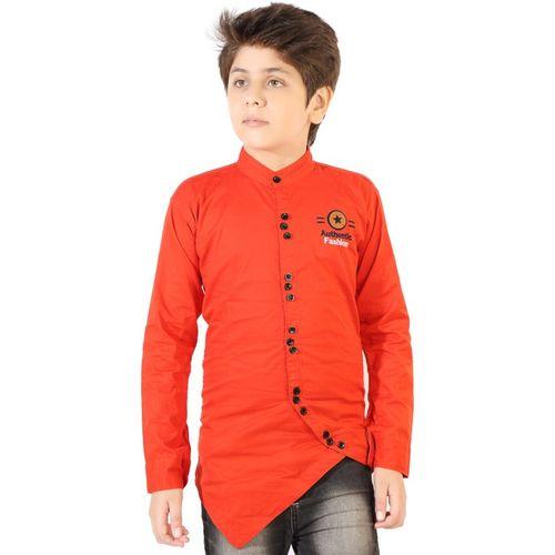 AD & AV Boys Solid Party Red Shirt