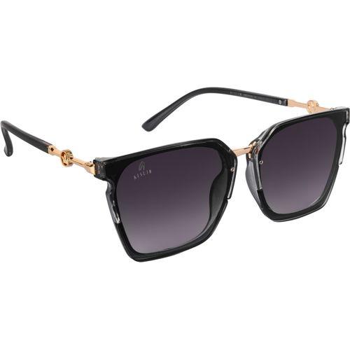 Aislin Wayfarer, Over-sized Sunglasses(Grey, Violet)