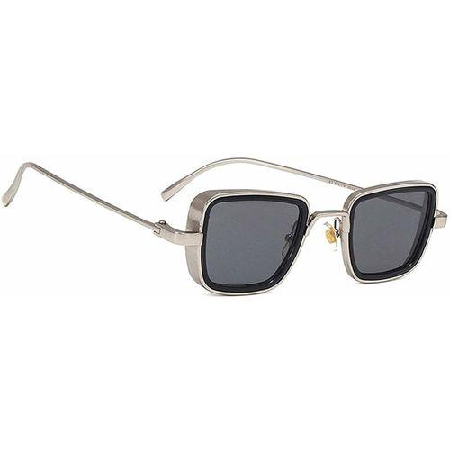 ROZZETTA CRAFT Retro Square Sunglasses(Silver, Black)
