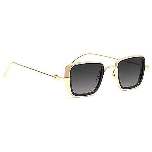 Trendy Glasses Retro Square Sunglasses(Golden, Black)