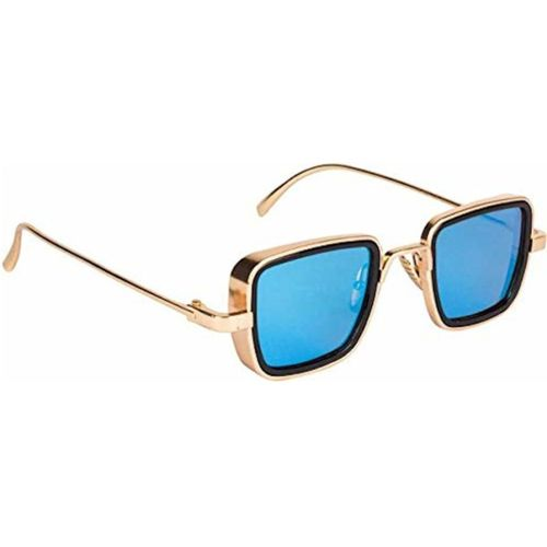 ROZZETTA CRAFT Retro Square Sunglasses(Blue)