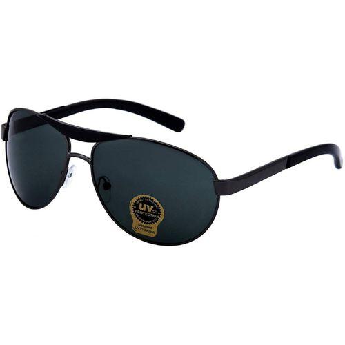 Silver Kartz Oval Sunglasses(Black)