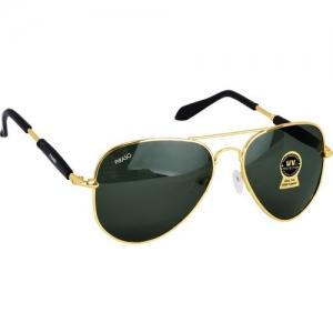 PIRASO Aviator Sunglasses(Golden, Black)