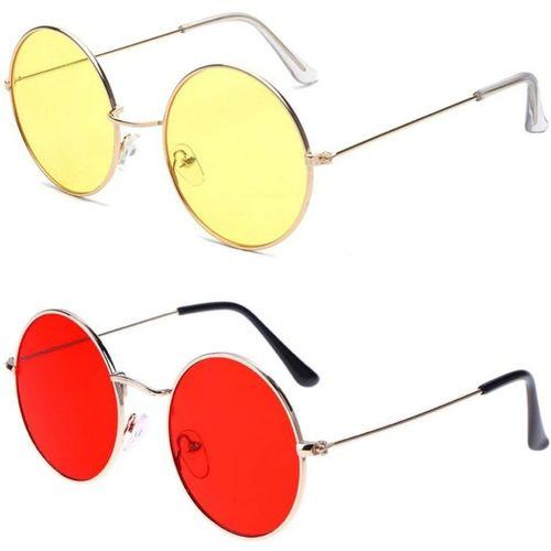 Dannilo Round Sunglasses(Yellow, Red)