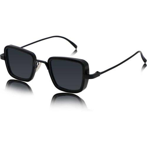 Trendy Glasses Retro Square Sunglasses(Black)