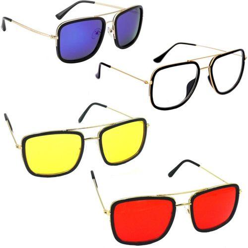 Phenomenal Aviator Sunglasses(Blue, Clear, Yellow, Red)