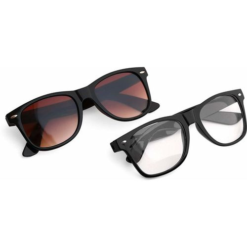 Royal Son Wayfarer Sunglasses(Brown, Clear)