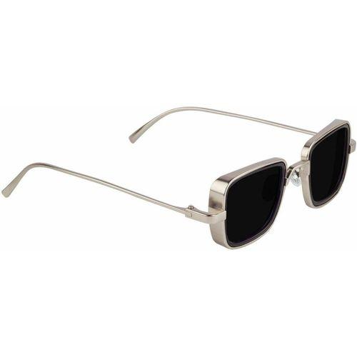 G-HAWK Rectangular Sunglasses(Silver, Black)