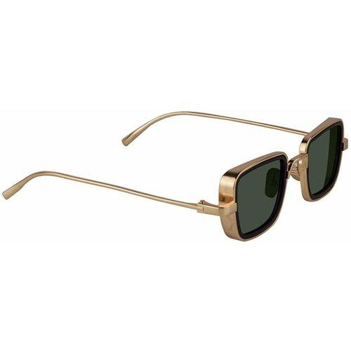 ROZZETTA CRAFT Retro Square Sunglasses(Golden, Black)
