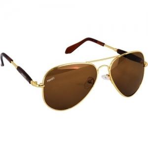 PIRASO Aviator Sunglasses(Golden, Brown)