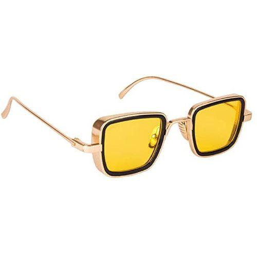 G-HAWK Rectangular Sunglasses(Golden, Yellow)