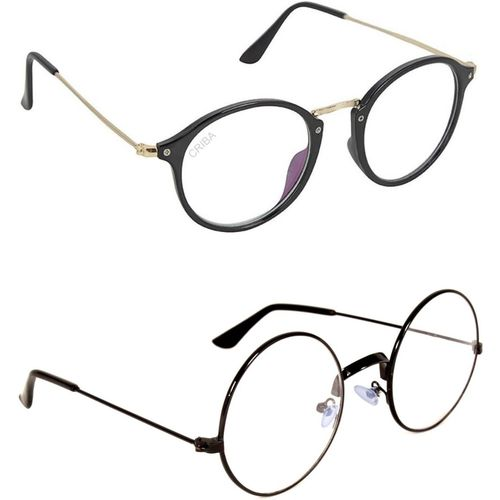 Criba Round, Oval Sunglasses(Clear, Clear)