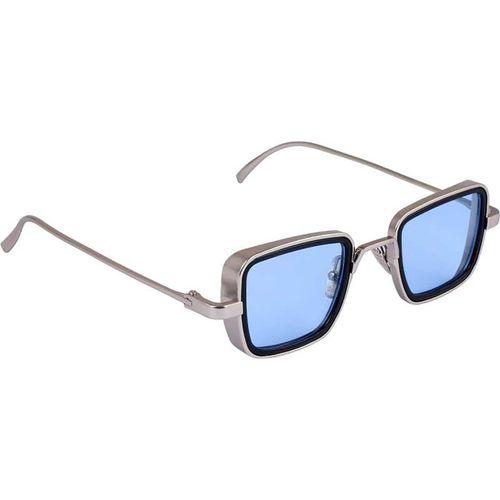 Trendy Glasses Retro Square Sunglasses(Silver)