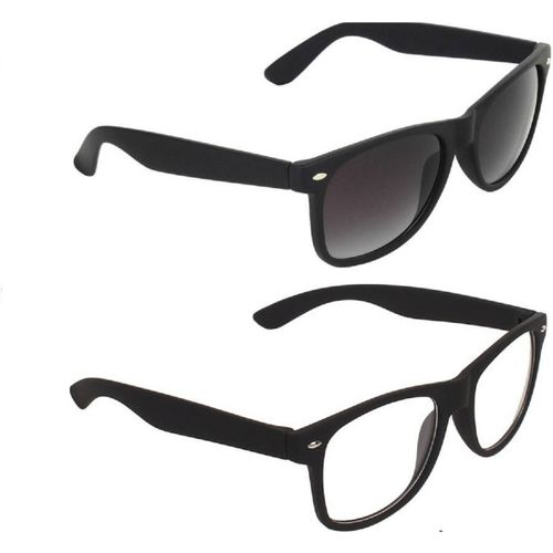 MAXX Spectacle Sunglasses(Black, Clear)