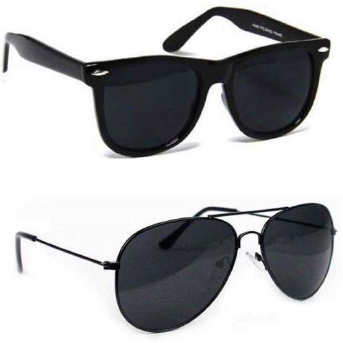 MAXX Wayfarer, Aviator Sunglasses(Black)