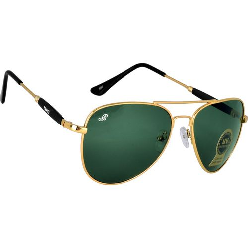 PIRASO Aviator Sunglasses(Golden, Green)