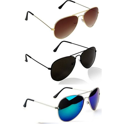 MAXX Aviator Sunglasses(Multicolor)