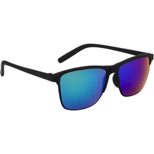 Gansta Rectangular Sunglasses(Green, Blue)