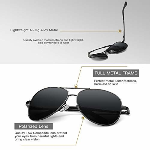 SIMSCO Firebird Polarized Aviator Sunglasses(IP-SG01B)