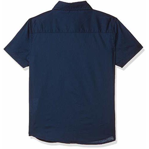 US Polo Association Boy's Plain Regular fit Shirt (UKSH6438_Navy 2 to 3)
