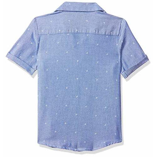 Mothercare Boy's Floral Regular fit Shirt (SD486-1_ Blue 2-3 Years)