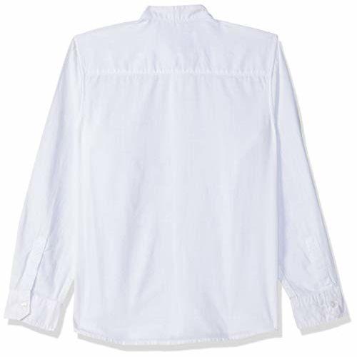 Pepe Jeans Boy's Plain Regular fit Shirt (PB301772_White 6-7 Years)