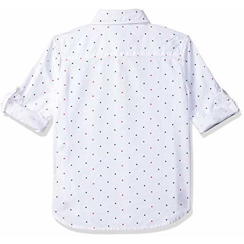 US Polo Association Boy's Plain Regular fit Shirt (UKSH6290_White 3-4 Years)