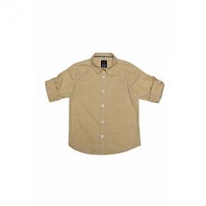 Allen Solly Boy's Checkered Regular fit Shirt (ABSF31901246_Beige 13-14y)