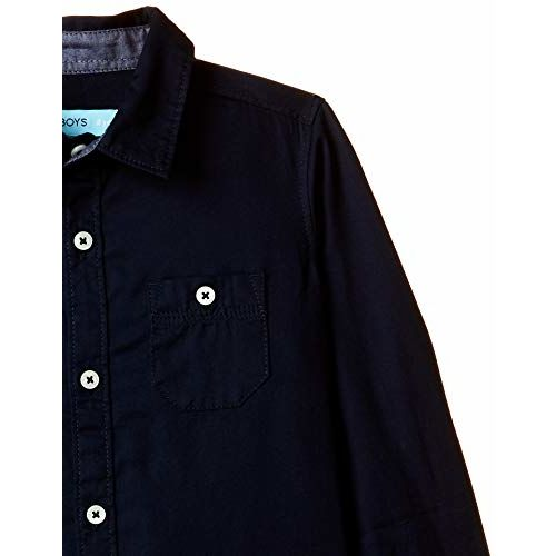 AFL Boy's Plain Regular fit Shirt (EST-302_Navy 3-4 Years)