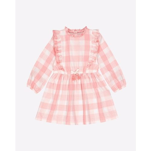Mothercare Checked Fit & Flare Dress with Ruffles