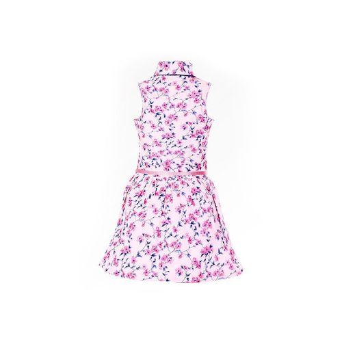 NAUGHTY NINOS Floral Print Shirt Dress with Belt